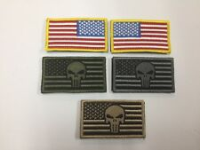 USA AMERICAN FLAG PUNISHER TACTICAL US MILITARY DESERT PATCH 5 COLORS