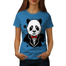 Panda Gentleman Cute Women T-shirt S-2XL NEW | Wellcoda