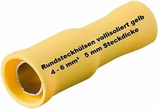rundhülse AMARILLO 4,0 -6 , 0mm ² terminales de cable NUEVO