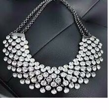 UKWomen SWAROVSKI STYLE Jewelry Choker Chunky Collar Statement Bib Necklace Set