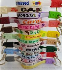 Key Ring, Loop, Tag, Key Label,Shed, Garage, Patio, Front, Back Door, Mums Taxi