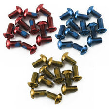 12 x DISC BRAKE ROTOR SCREW BOLTS M5 X10MM for CYCLING BIKE BICYCLE Fixing UK