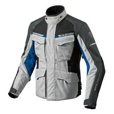 Chaqueta de motociclista Rev'it Revit Outback 2 plata azul 4 estaciones