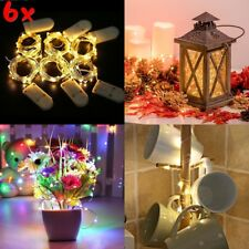 6Pcs 20 LED Wire Copper Fairy String Lights Wedding Party Battery Lamp Decor