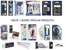Helix Maped Oxford Maths Sets Compass Rulers Protractor Eraser Sharpener Pens
