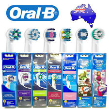 REAL ORAL-B FLOSSACTION WHITE SENSITIVE ELECTRIC TOOTHBRUSH HEADS REPLACEMENT