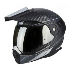 Casco modulare apribile enduro touring adventure moto Scorpion ADX-1 Dual black