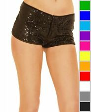 New Music Legs 164 Zipper Front Sequined Booty Shorts