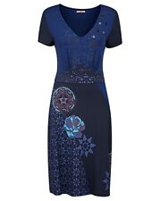 NEW JOE BROWNS SIMPLY BE TRIBAL PRINT JERSEY DRESS Blue SIZE 14,30,32 RRP£49