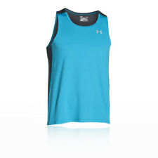 Under Armour Mens Coolswitch Run Vest Blue Sports Running Breathable Reflective