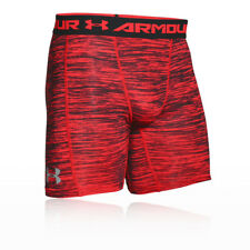 Under Armour Mens Coolswitch Compression Short Red Sports Gym Running Breathable