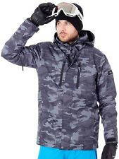 Quiksilver Black-Grey-Camokazi Mission Printed Snowboarding Jacket