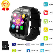 2017 1.54 Inch BT Smart Watch for Android Q18 Smart Watch Support NFC Camera TF
