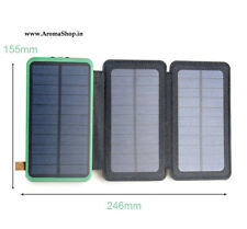 3 folds Solar Phone Power Bank Charger Battery Portable Mobile Charger Support