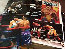 Various Signed Boxing Photos (C). Champs & Challengers 10x8, 12x8 COA