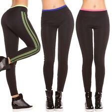 Damen Sport Fitness Leggings Leggins Active Treggins Mesh Tights Jersey Pants S