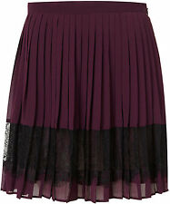 TOPSHOP BEAUTIFUL  PLEATED LACE PANEL SKIRT UK 10  EUR 38  US 6 BRAND NEW