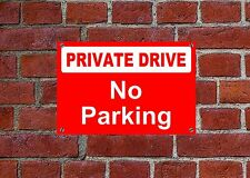 privado drive no parking resistente a la intemperie Letrero 5029 aluminio, pvc o