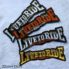 LIVE TO RIDE BANDERA patch 32x11 cm OLD SCHOOL BIKER MC hábito Chopper VINTAGE