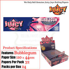 Juicy Jays BUBBLE GUM SAPORE King Size sottile CARTINE - 12 Packs