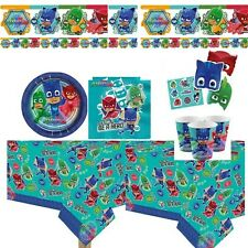 PJ Masks party tablecover plates cups masks stickers balloons 8-16 guests VALUE