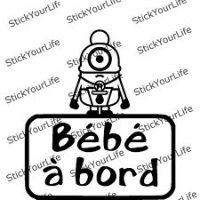 BIMBO A BORDO MINIONS baby board sticker autoadesivi tuning decorazione auto
