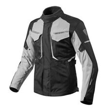 chaqueta de motociclista Rev'it Revit Safari 2 Negro Plata hombre impermeable