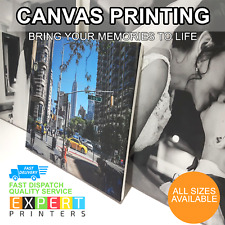 PERSONALISED CANVAS PRINT YOUR PHOTO ON LARGE CUSTOM CANVAS -A4 A3 A2 A1 A0