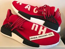 ADIDAS NMD HUMAN RACE HU PHARRELL PW UK 5 6 7 8 9 10 11 SCARLET RED WHITE BOOST