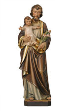 Saint Joseph statue wood carved -Made in Italy-