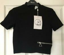 Urban Outfitters Black Cheap Monday Cropped Crop Zipped Zip Point Top BNWT XS