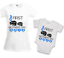 Our first Mother's Day Mummy bear baby bear personalised t-shirt baby vest 1st