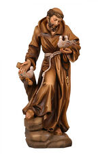 Saint Francis of Assisi statue wood carved