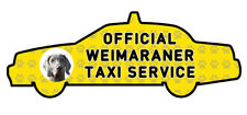 Funny WEIMARANER Dog Taxi Sevice vinyl car decal sticker Pet Animal Lover
