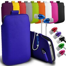 """PU Leather Pull Tab Pouch Case Cover with Earphone For Asus Pegasus 5000 (5.5"""")"""