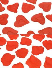 100-500pc Silky Red Rose / Heart Petals Valentines Day Gift Table Confetti Decor