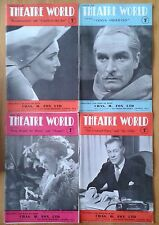 Selection of individual Theatre World magazines from 1950 & 1951 Theatreworld
