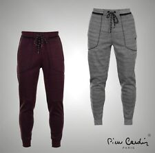 Mens Designer Pierre Cardin Everyday Joggers Tapered Fit Sweatpants Size S-XXL