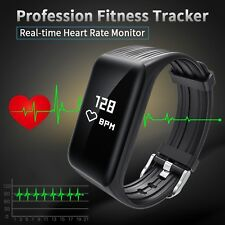 Fitness Tracker Smart Bracelet Real-time Heart Rate Monitor For Android & IOS