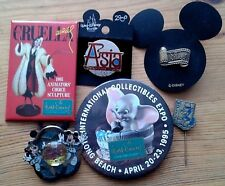 Selection of individual Walt Disney themed metal pins & badges, pin badge