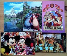 Selection of Individual Walt Disney themed unused postcards, blank postcard