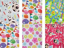 2 Sheets Simon Elvin Happy Birthday Wrapping Paper - Quality Gift Wrapping Paper
