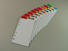 Filofax Personal/Compact Divider Insert (Top Position) Multicoloured Mylar Tabs