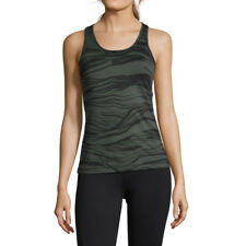 Casall Womens Wave Racerback Training Gym Fitness Tank Green Sports Breathable