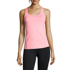 Casall Womens Mesh Back Racerback Training Gym Fitness Tank Pink Sports