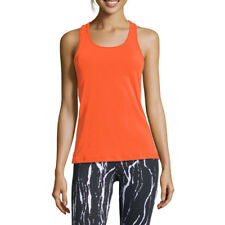 Casall Womens Rib Racerback Training Gym Fitness Tank Orange Sports Breathable