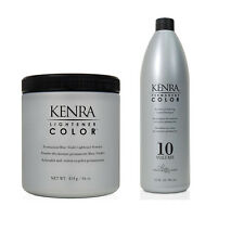 kenra Color Permanente Colorante crème DESARROLLADOR 946ml + Aclarador Polvo