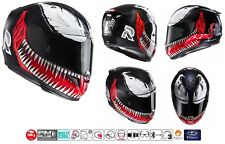 CASCO HJC RPHA 11 INTEGRALE IN CARBONIO FIBRA DI VETRO MARVEL GRAFICA VENOM MC1