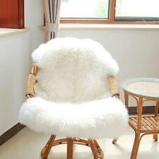 Chair Cover Sheepskin Seat Pad Soft Carpet Hairy Plain Skin Fur Plain Fluffy