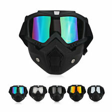 Moto Sécurité Lunette Masque Casque De Protection Détachable Léger Riding Shield
